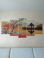 Декоративная картина из стекла