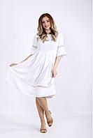 / Размер 42-74 / Женское легкое летнее платье шалфей / 01176 цвет белый