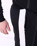 Спортивные штаны Adidas 19779 черные, фото 4