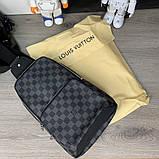 Слинг сумка Louis Vuitton Avenue 19842 серо-черная, фото 4