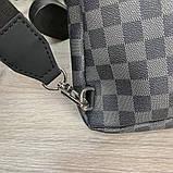 Слинг сумка Louis Vuitton Avenue 19842 серо-черная, фото 7