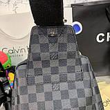 Слинг сумка Louis Vuitton Avenue 19842 серо-черная, фото 8