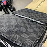 Слинг сумка Louis Vuitton Avenue 19842 серо-черная, фото 9