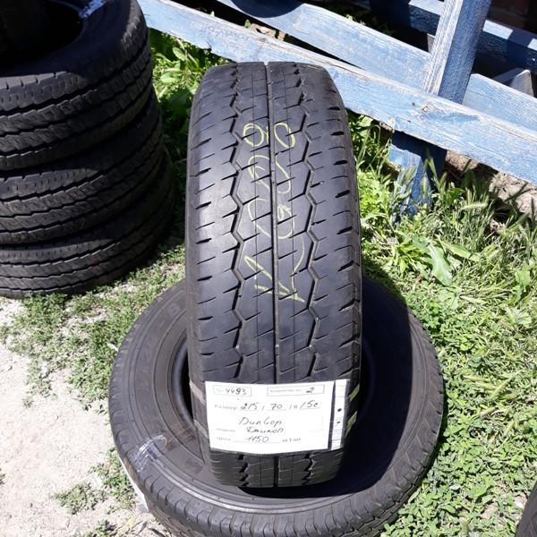 Шины б.у. 215.70.r15с Dunlop SP LT30 - 8 Данлоп. Резина бу для микроавтобусов. Автошина усиленная. Цешка