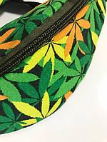 Поясная сумка с принтом Конопля , фото 1