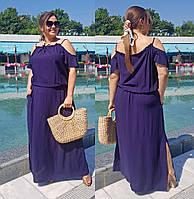 Платье летнее в пол  супер батал в расцветках 36727, фото 1