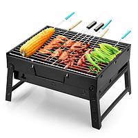 Портативный гриль Складной барбекю решетка 35 x 27 x 20 см BBQ Grill Portable черный