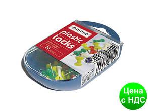 Кнопки-гвоздики Optima, в пластиковой коробке, 36шт.  O41154
