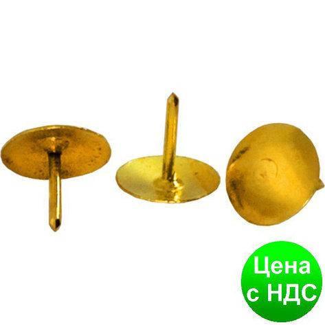 "Кнопки Hanfang ""Гвоздик"" 501 золото (50 шт/уп. картон), фото 2"