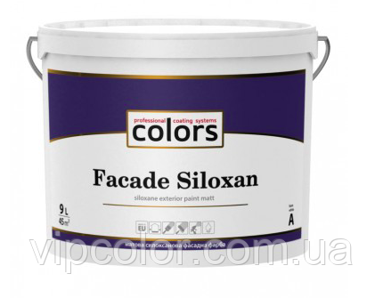 СOLORS Facade Siloxan матовая cилоксановая фасадная краска База А 2,7л