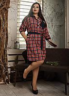 Женское платье рубашка. Размеры 52, 54, 56