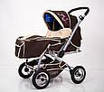 Дитяча прогулянкова коляска з перекидною ручкою Sigma H-538AF (надувні колеса), фото 7