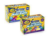 Фарби змиваючі Crayola Washable Kids Paint, 2 набора в наборі 6 кольорів (54-1204) (54-2400)