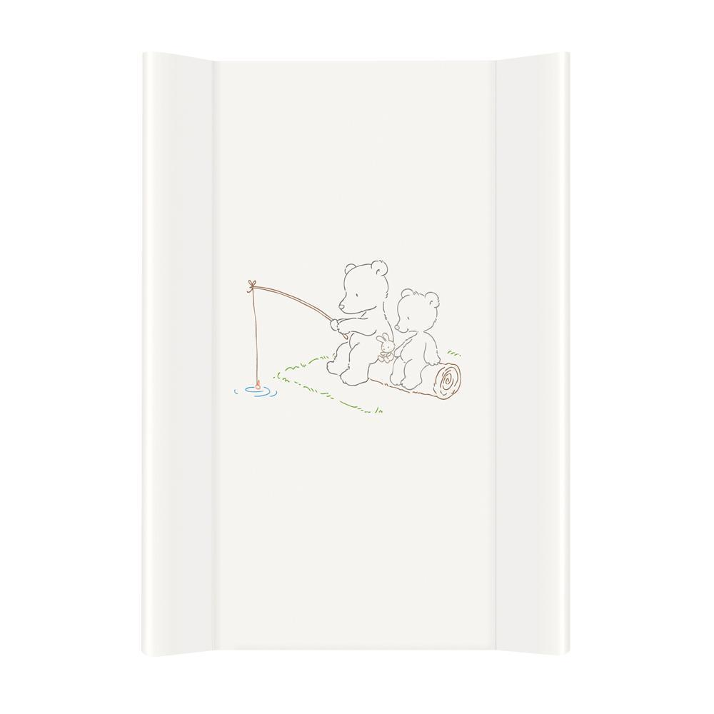 Пеленальная доска Ceba Baby 50х70 мишки (Повивальна дошка CEBA NK/TK /50*70/ Ведмедики рибалять білий)