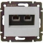 Комп'ютерна розетка 2xRJ45 кат.5Е UTP на захопленнях Valena (білий)