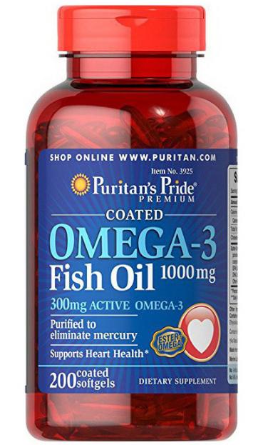 Puritan's Pride Omega-3 Fish Oil 1000 mg 200 softgels
