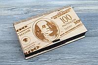 Шкатулка-купюрница из фанеры (Доллар)