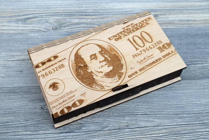 Шкатулка-купюрница из фанеры (Доллар), фото 2
