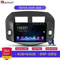 Junsun 4G Android магнитола для Toyota rav 4 2005-2013 full 4Gb озу+ 64gb