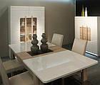 Стол обеденный деревянный FLOT16-P50 ATTENTION Forte дуб сонома/белый глянец, фото 2