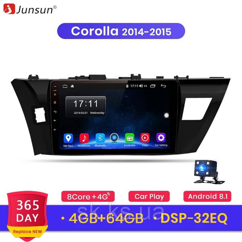 Junsun 4G Android магнитола для Toyota corolla 2014-2015 full 4Gb озу+ 64gb