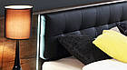Кровать с прикроватными тумбами BLQL161B-N09 BELLEVUE Forte дуб/черный/благородный, фото 3