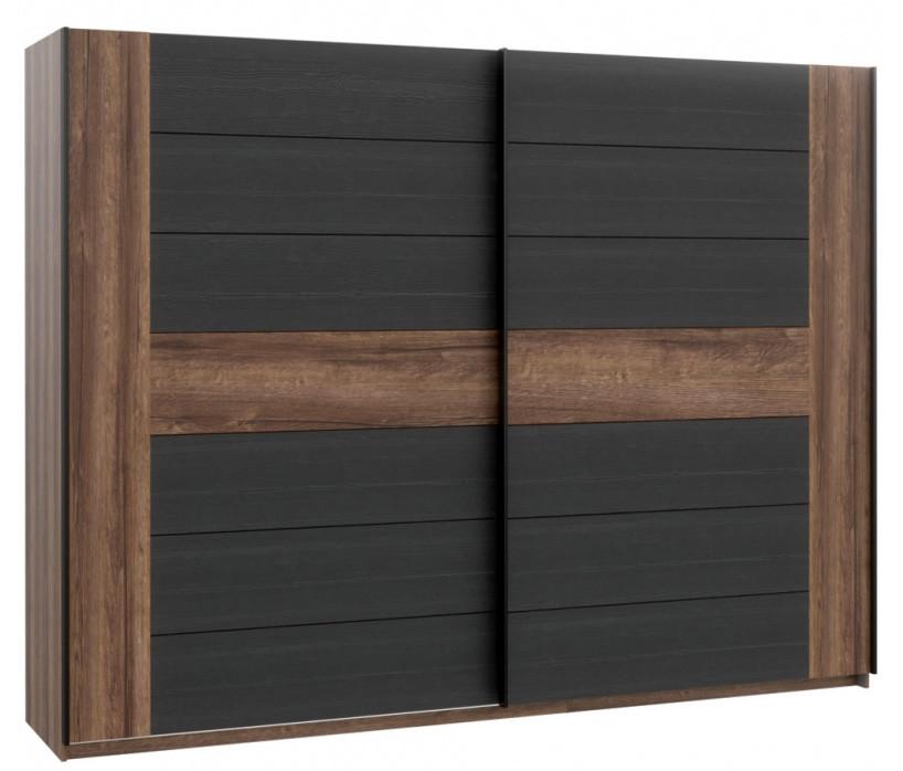 Шкаф BLQS128E1-N09 BELLEVUE Forte дуб/черный/благородный