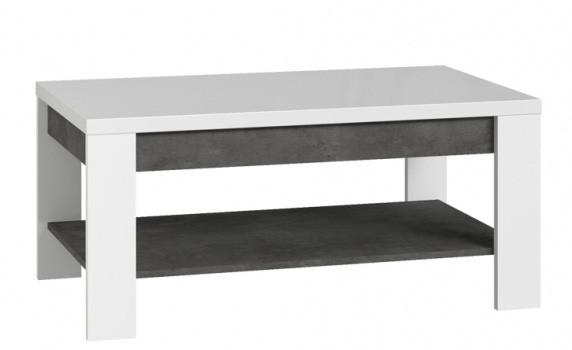 Журнальный столик BRCT501-C639 BRUGIA Forte бетон темно-серый/белый глянец