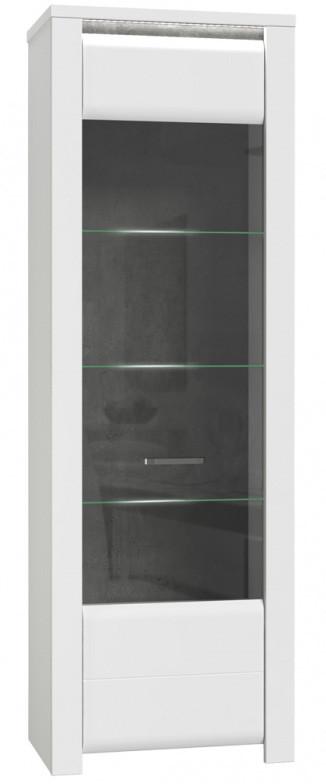 Витрина BUGV711B-C638 BRUGIA Forte бетон темно-серый/белый глянец