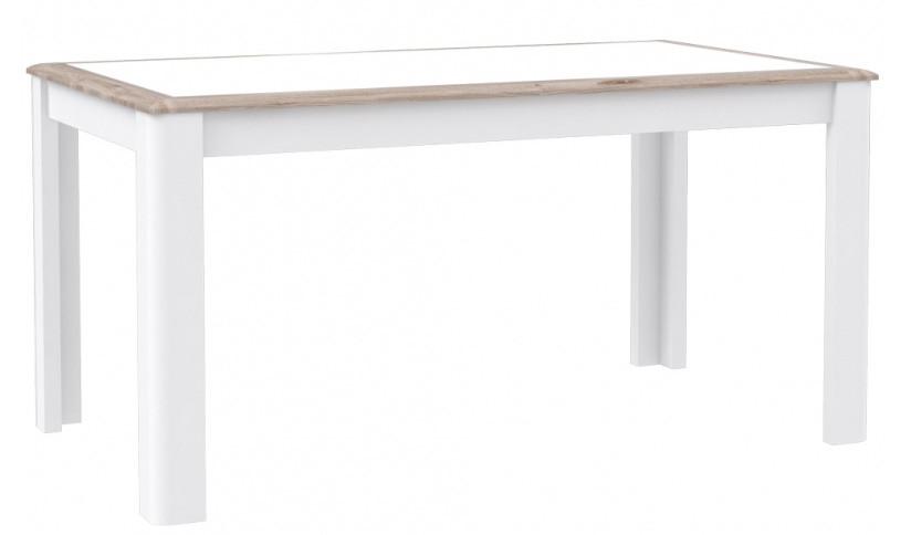 Стол обеденный деревянный CQNT16-C141 CANNE Forte дуб нельсон/белый глянец