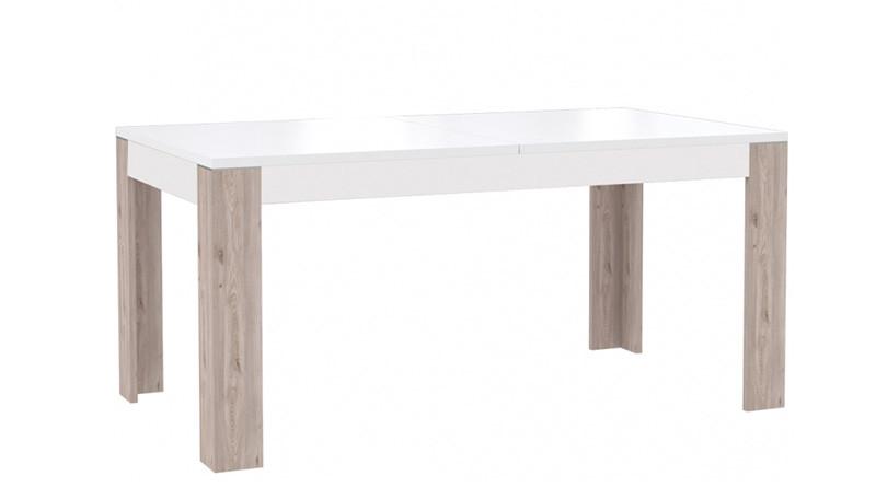 Стол обеденный деревянный XELT16-C141 CANNE Forte дуб нельсон/белый глянец