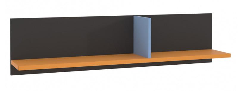 Полка LORB01-C174 COLORS Forte серый вольфрам/оранжевый/голубой