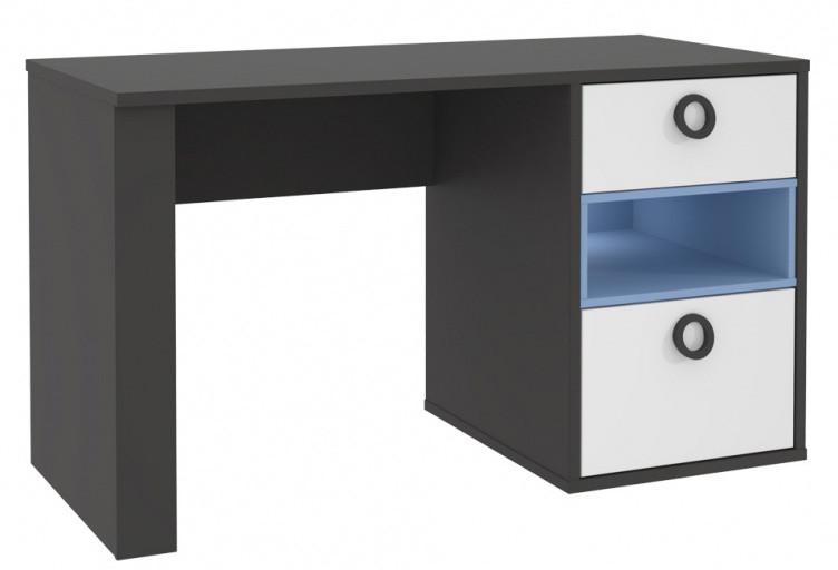 Стол письменный LORB211-C174 COLORS Forte серый вольфрам/белый/голубой