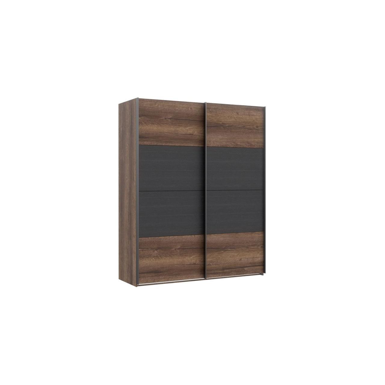 Шкаф RMRS824E1-N09 DREAMER Forte дуб благородный/черный