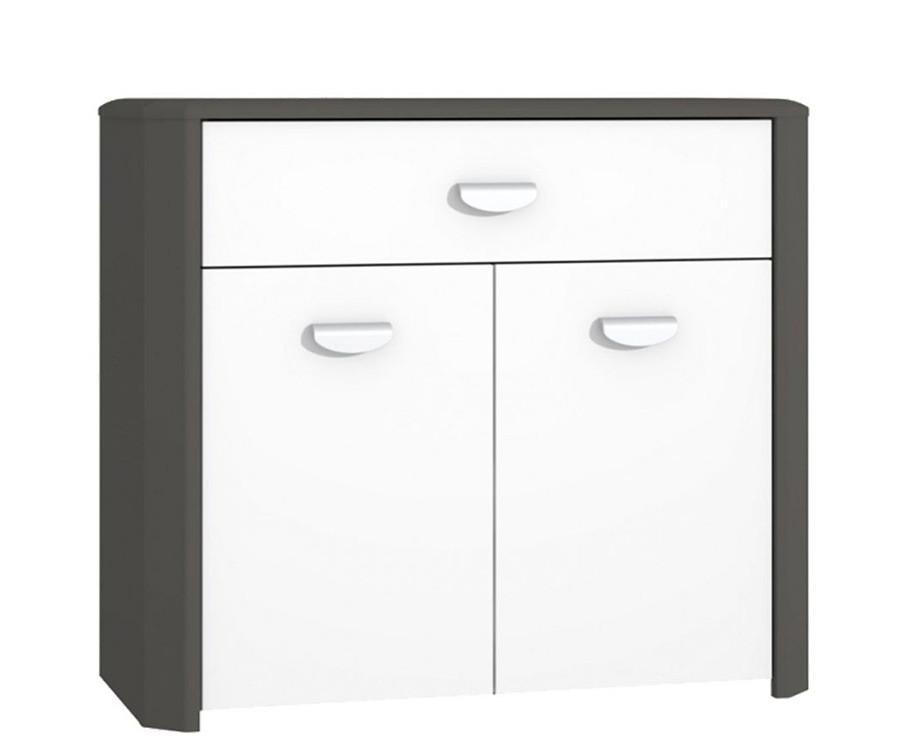 Комод HEYK221-C230 HEY Forte вольфрам серый/серый мат/белый