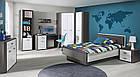 Кровать HEYL222-C230 HEY Forte вольфрам серый/серый мат/белый, фото 3
