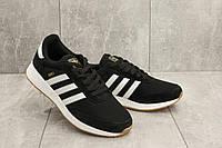 Кроссовки A 413 -1 (Adidas Iniki) (весна/осень, мужские, текстиль, черный)