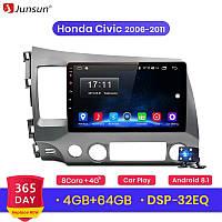 Junsun 4G Android магнитола для honda civic 2006-2011 full 4Gb озу+ 64gb, фото 1