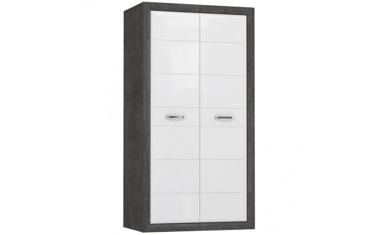 Шкаф ENXS821-C275 LENNOX NEW Forte бетон темно-серый/белый глянец