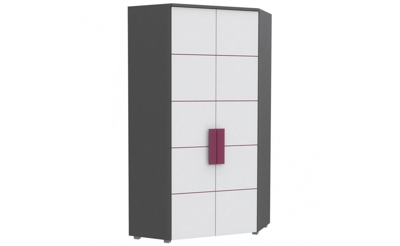 Шкаф угловой LBLS89-P83 LIBELLE Forte серый матовый/белый/фиолетовый