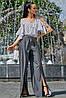 ✔️ Летняя блузка с открытыми плечами 42-48 размера белая с черной полоской