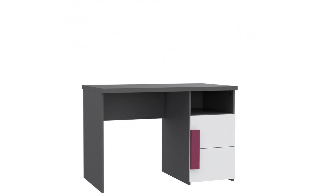 Стол письменный LBLT21-P83 LIBELLE Forte серый матовый/белый/фиолетовый