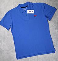 Футболка-поло Fila (мужская, голубой)