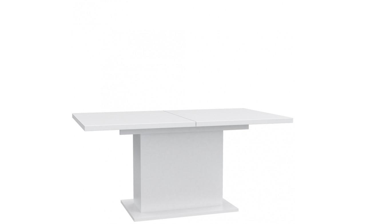 Стол обеденный деревянный EST42-C50 SNOW Forte белый мат