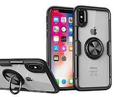 """TPU+PC чехол Deen CrystalRing с креплением под магнитный держатель для Apple iPhone XS Max (6.5"""")"""