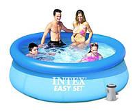Надувной бассейн Intex 28112, 244 х 76 см + фильтрующий насос, фото 3