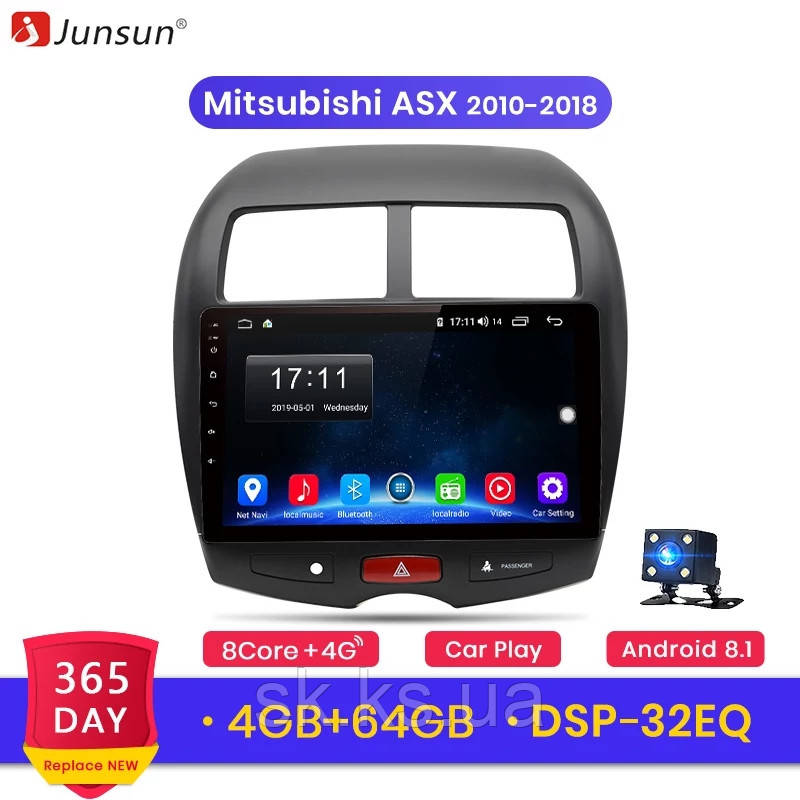 Junsun 4G Android магнитола для mitsubishi asx  2010-2019 full 4Gb озу+ 64gb