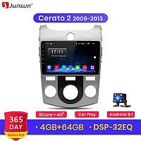 Junsun 4G Android магнитола для kia cerato 2 2009-2013 full 4Gb озу+ 64gb