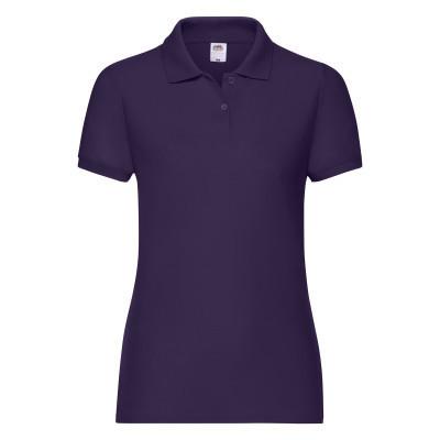 Стильная женская футболка поло с воротником на лето фиолетовая