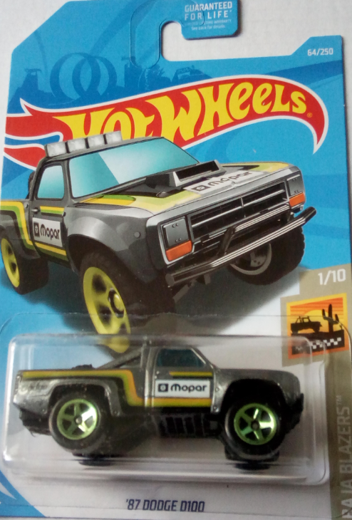 Машинка Hot Wheels 2019 '87 Dodge D100